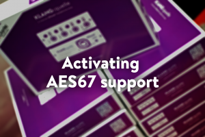 AES67support with klang quelle