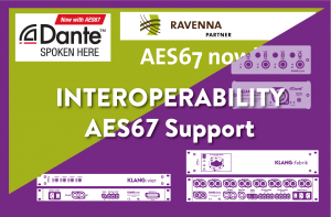 Activating AES67 support for KLANG products