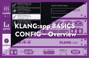 KLANG:app config menu overview