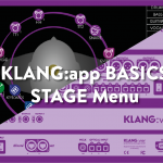 KLANG:app – The STAGE Menu