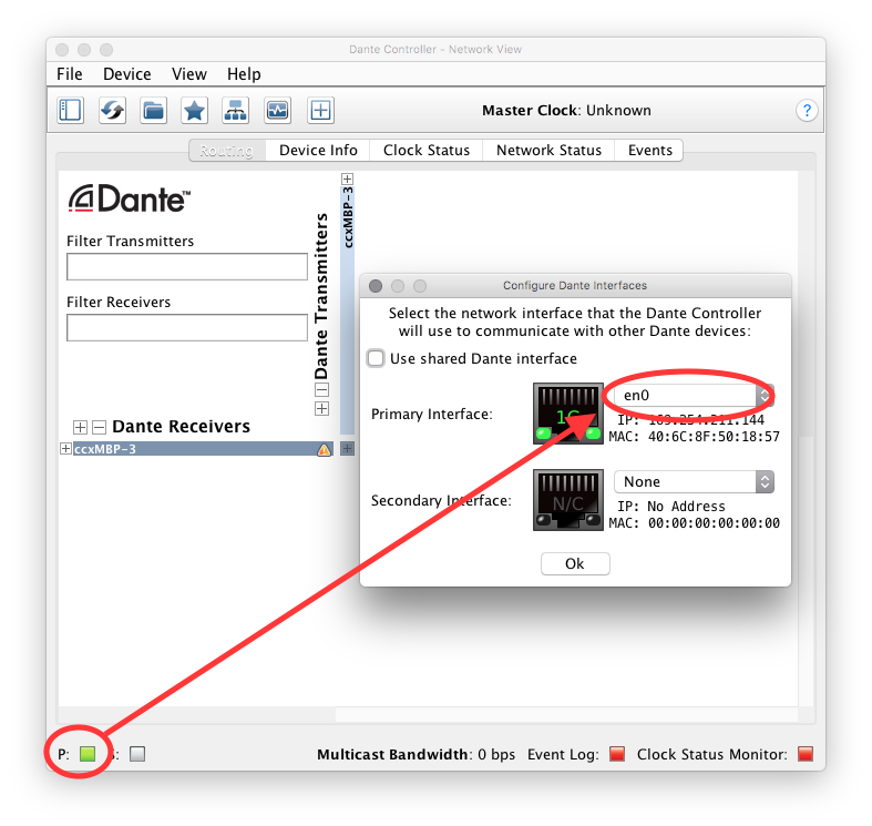 How to recover and reset your Dante module's fixed IP