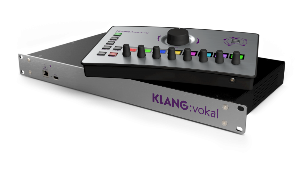 Allowing 24 mono or stereo channels, up to 12 musicians can freely choose from, KLANG:vokal is the perfect fit for KLANG:kontroller.