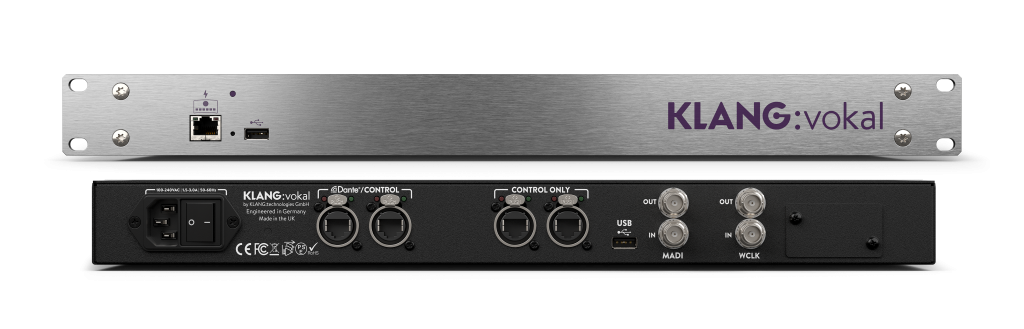 Based on KLANG's powerful, new generation, ultra-low latency FPGA core, KLANG:vokal offers 12 mixes of 24 mono or stereo inputs at 48kHz and 96kHz.